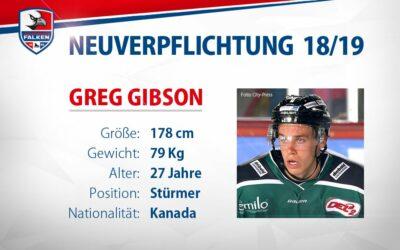 Greg Gibson belegt dritte Kontingentstelle
