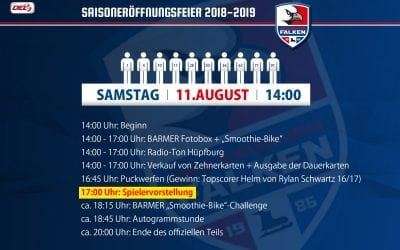 Saisoneröffnungsfeier der Falken am 11.08.2018