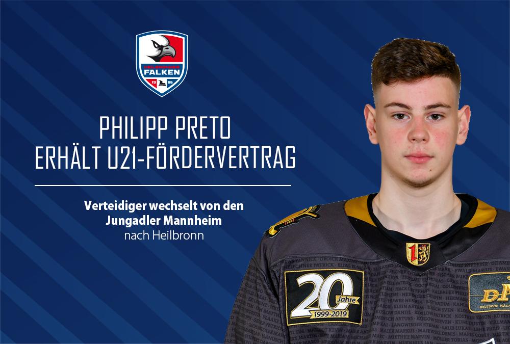 Verteidiger Philipp Preto erhält U21-Fördervertrag
